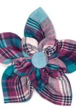 Worthy Dog The Worthy Dog Flower Teal & Purple Plaid
