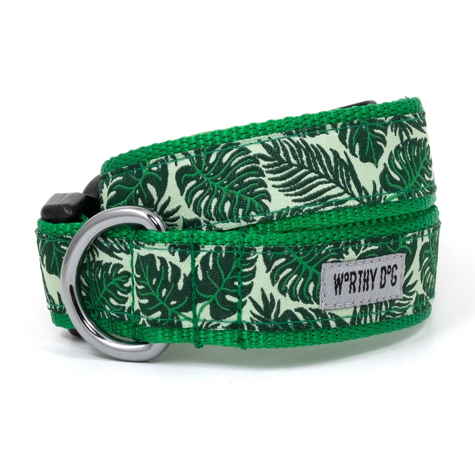 Worthy Dog The Worthy Dog Dog Collar Tropical Leaves