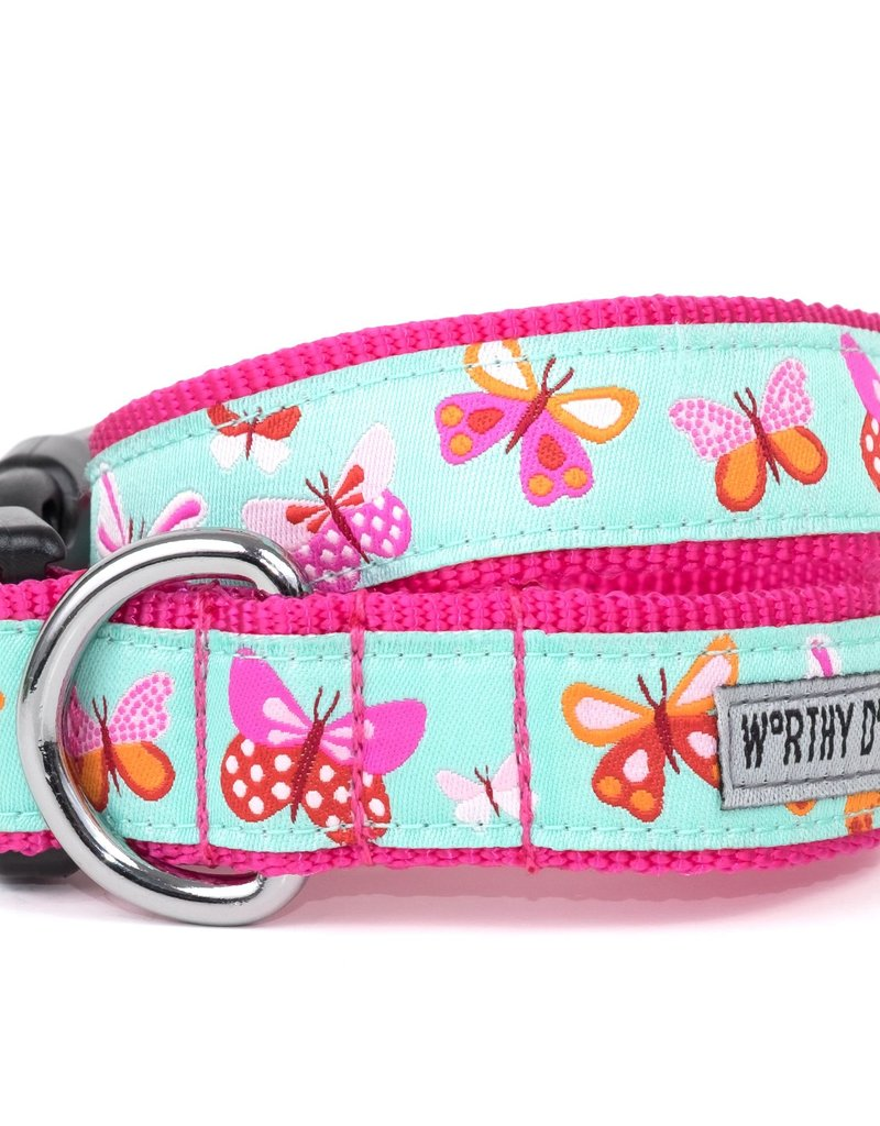 Worthy Dog The Worthy Dog Dog Collar Butterflies