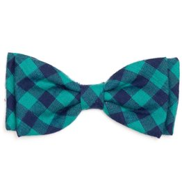 Worthy Dog The Worthy Dog Bow Tie Green & Navy Check