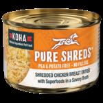 Koha KOHA Pure Shreds Shredded Chicken Breast Entrée Pumpkin Dog Can 5.5oz
