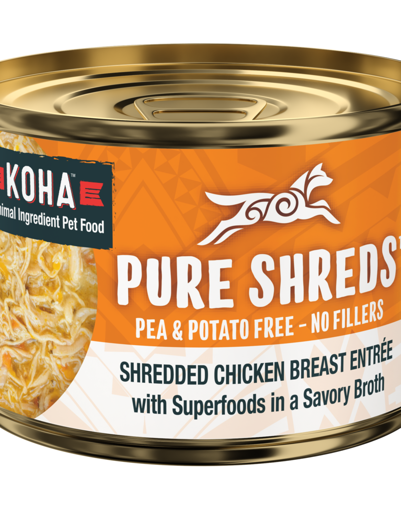 Koha KOHA Pure Shreds Shredded Chicken Breast Entrée Pumpkin Dog Can