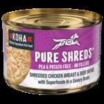 Koha KOHA Pure Shreds Shredded Chicken Breast & Beef Entrée Dog Can 5.5oz