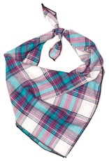 Worthy Dog The Worthy Dog Bandana Teal & Purple Plaid
