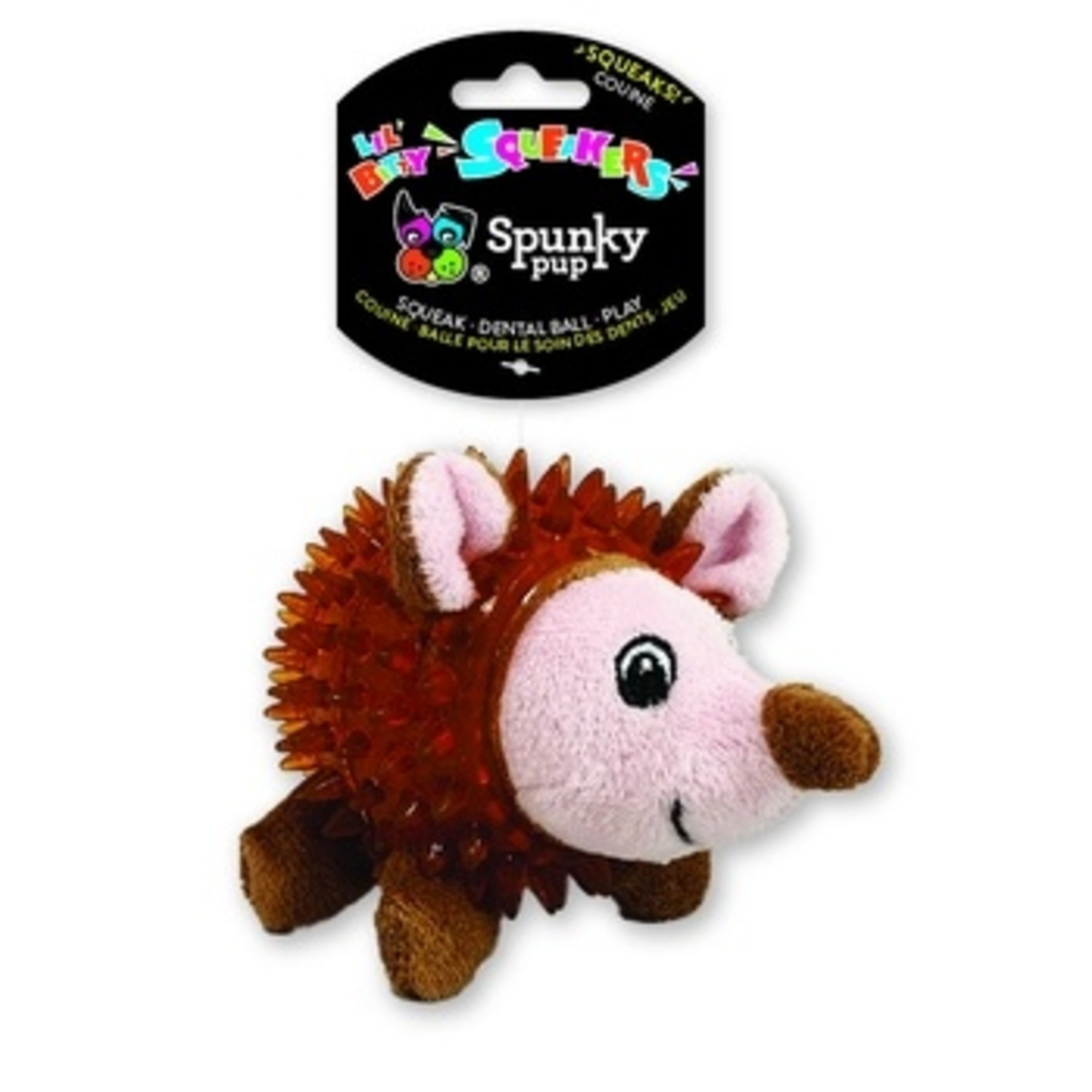 Spunky Pup Spunkypup Lil Bitty Squeakers Hedgehog Dog Toy