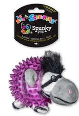 Spunky Pup Spunkypup Lil Bitty Squeakers Zebra Dog Toy