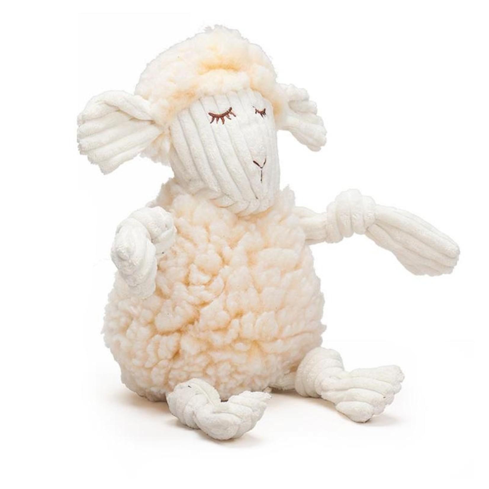 Hugglehounds Hugglehounds Fluffer Knotties Lamb Dog Toy Lrg