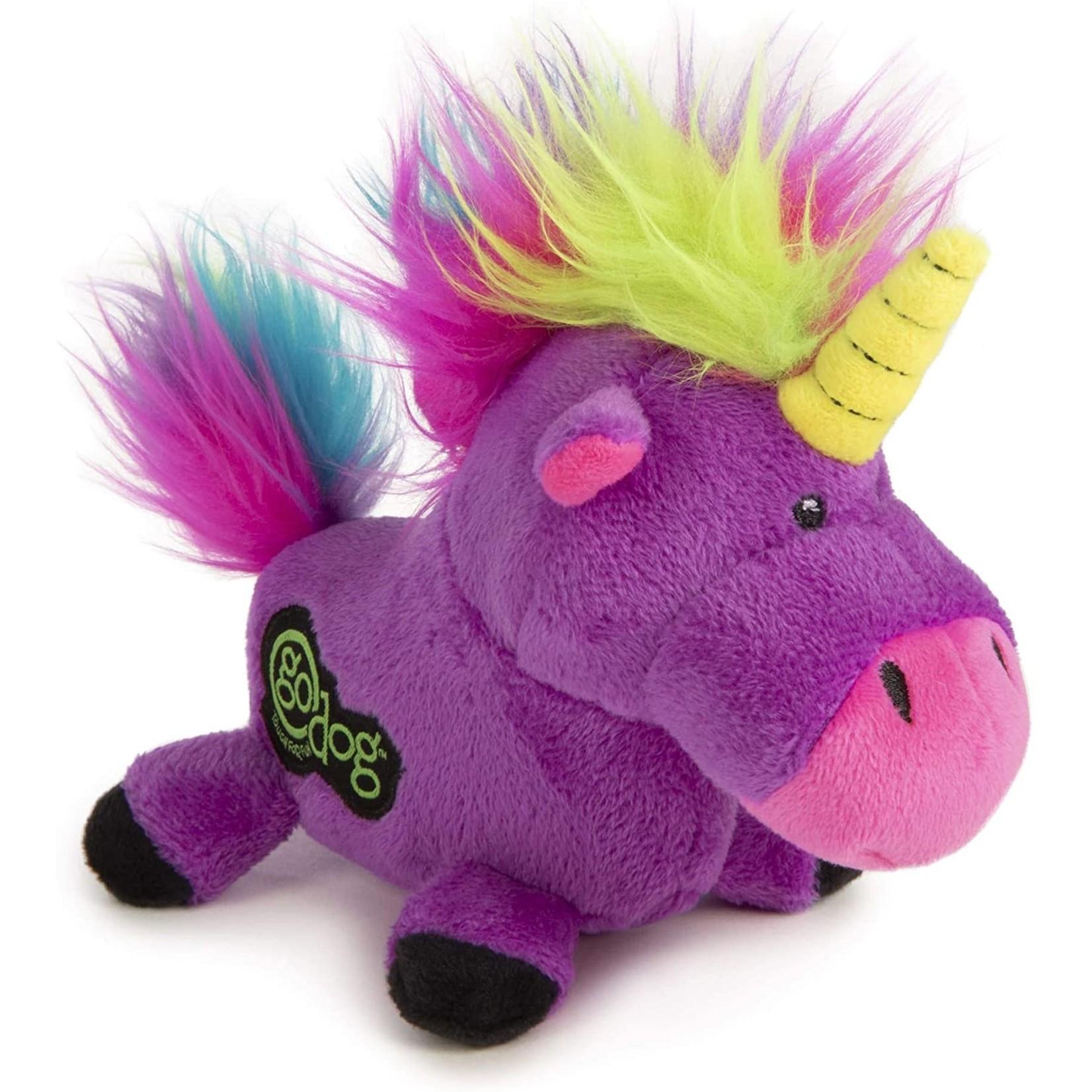 Worldwise/QPG/GoDog GoDog Purple Unicorn Dog Toy Large