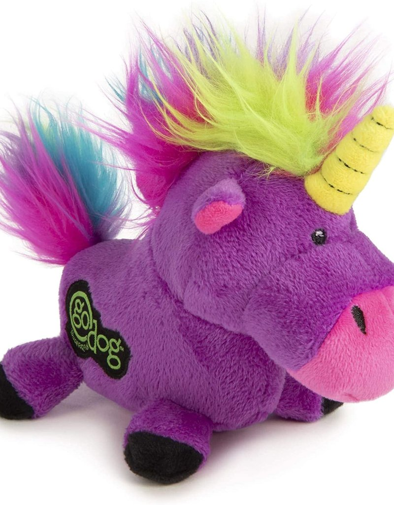Worldwise/QPG/GoDog GoDog Purple Unicorn Dog Toy Large