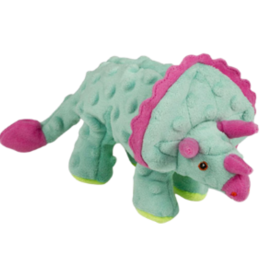 Worldwise/QPG/GoDog GoDog Dinos Triceratops Dog Toy Teal Small