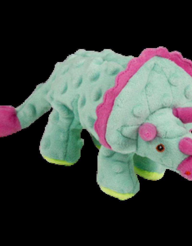 Worldwise/QPG/GoDog GoDog Dinos Triceratops Dog Toy Teal Small