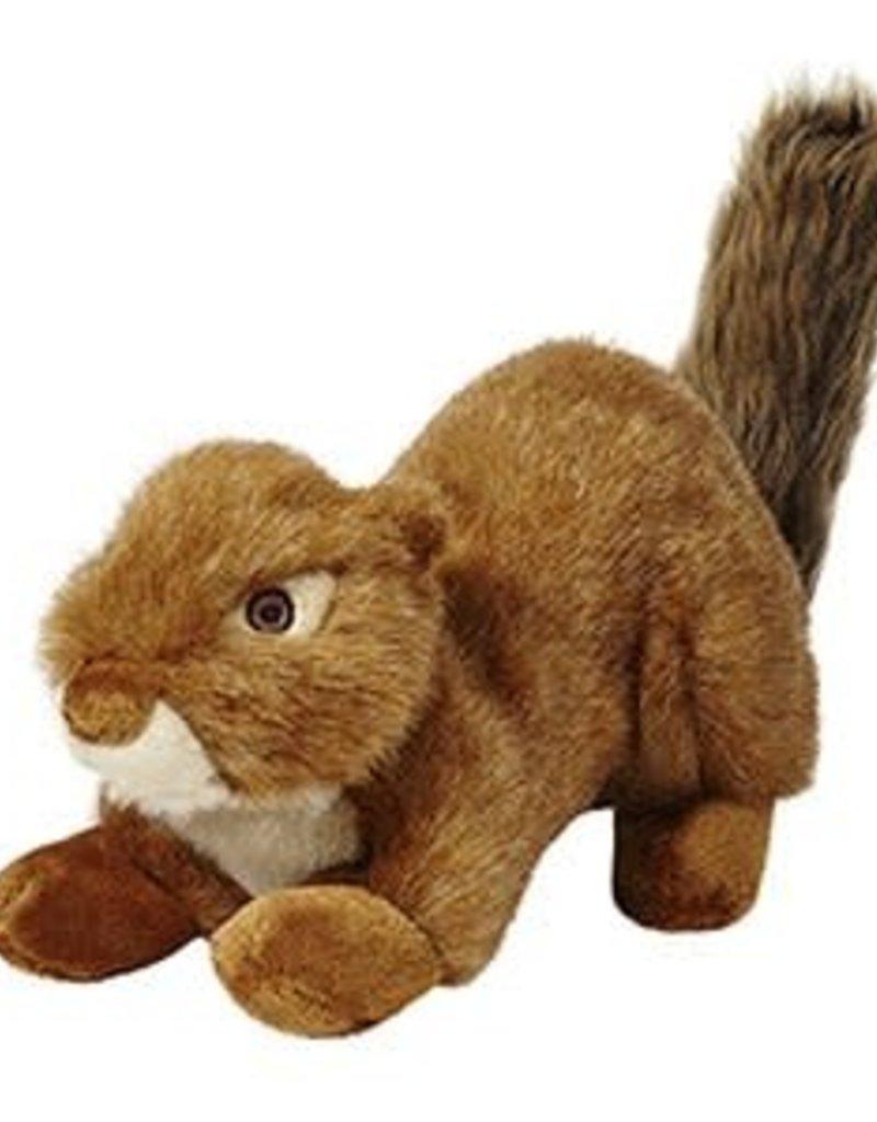 Fluff & Tuff F&T Red Squirrel Squeakerless Lrg Dog Toy