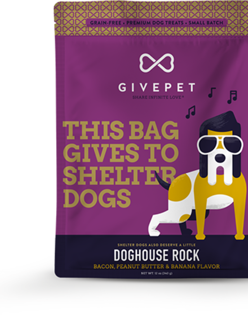 GivePet GIVEPET Doghouse Rock Dog Treats 12oz