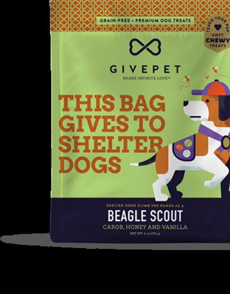 GivePet GIVEPET Beagle Scout Soft Dog Treats 6oz