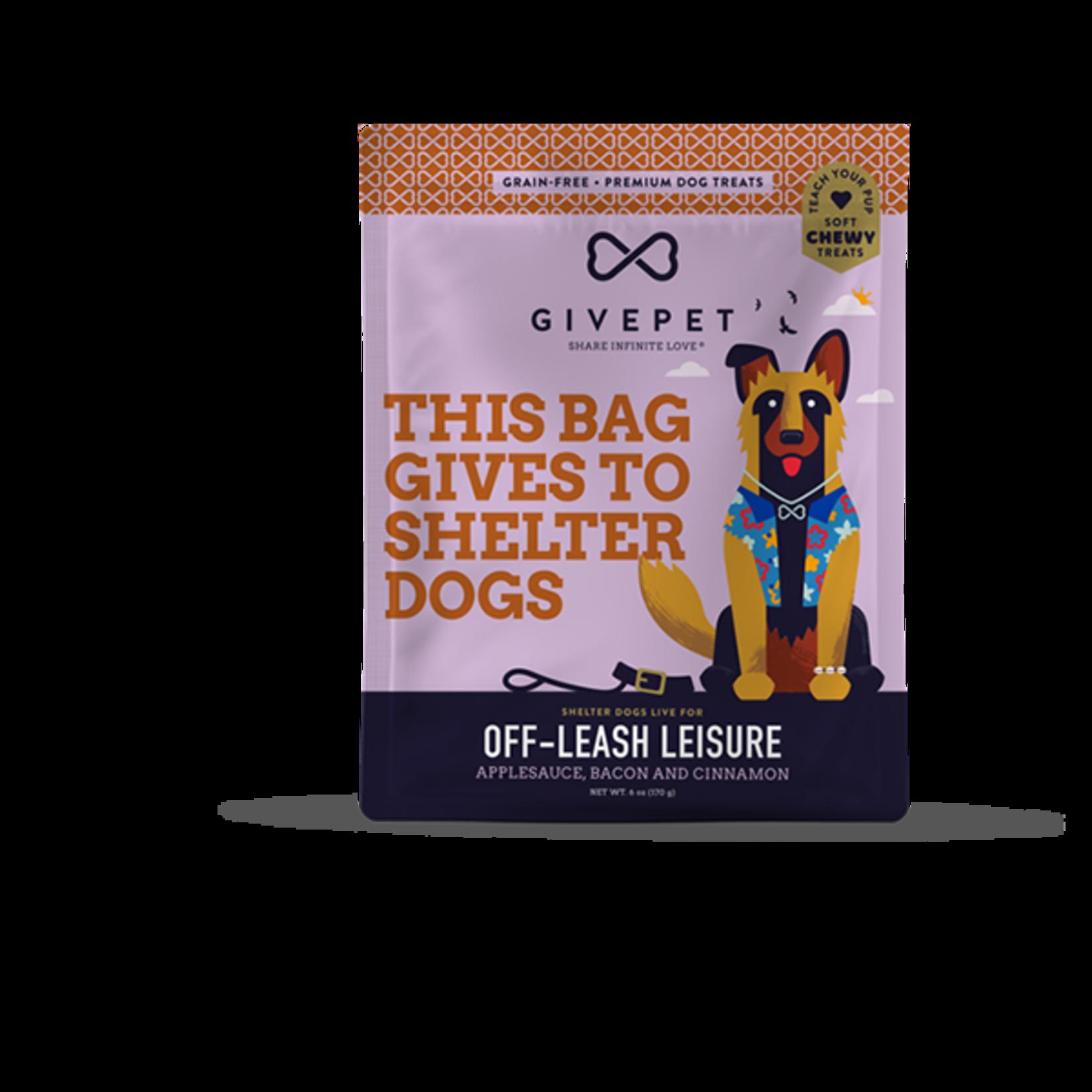 GivePet GIVEPET Off Leash Leisure Soft Dog Treats 6oz