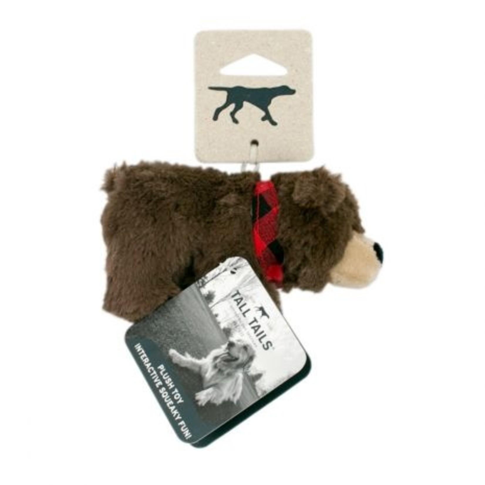 "Tall Tails TALL TAILS Plush Baby Bandana Bear Dog Toy 5"""