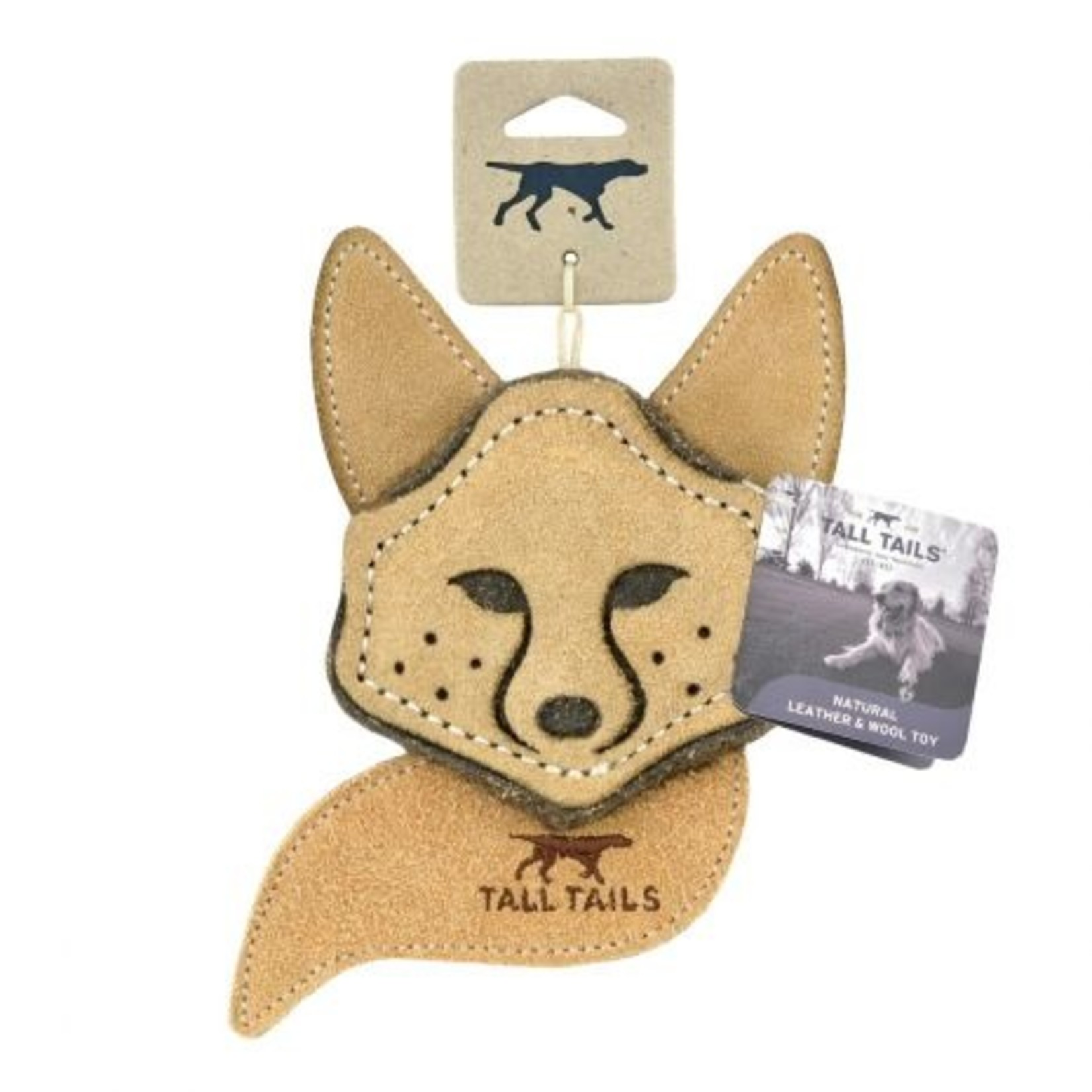 """Tall Tails TALL TAILS Scrappy Leather Fox 4"""" Dog Toy"""