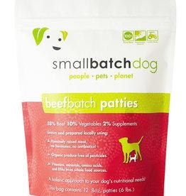 Small Batch Small Batch Frozen Raw BeefBatch Patties Dog 6#