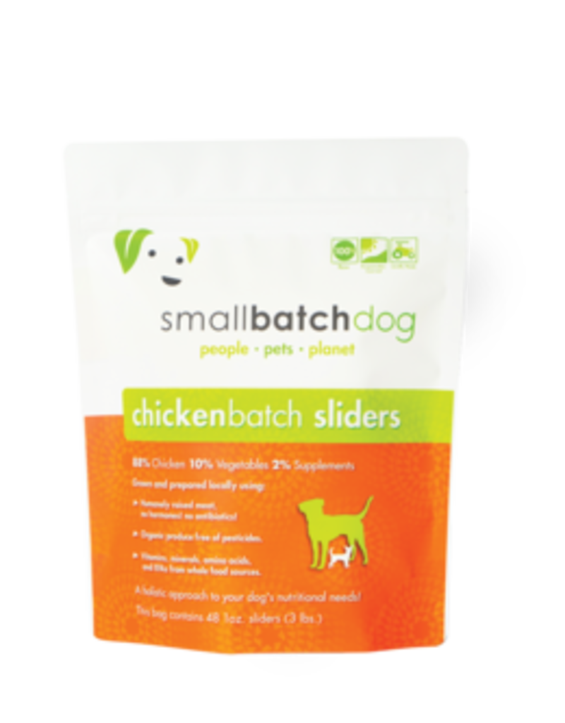 Small Batch Small Batch Frozen ChickenBatch Sliders Dog 3#