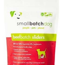 Small Batch Small Batch Frozen Raw BeefBatch Sliders Dog 3#