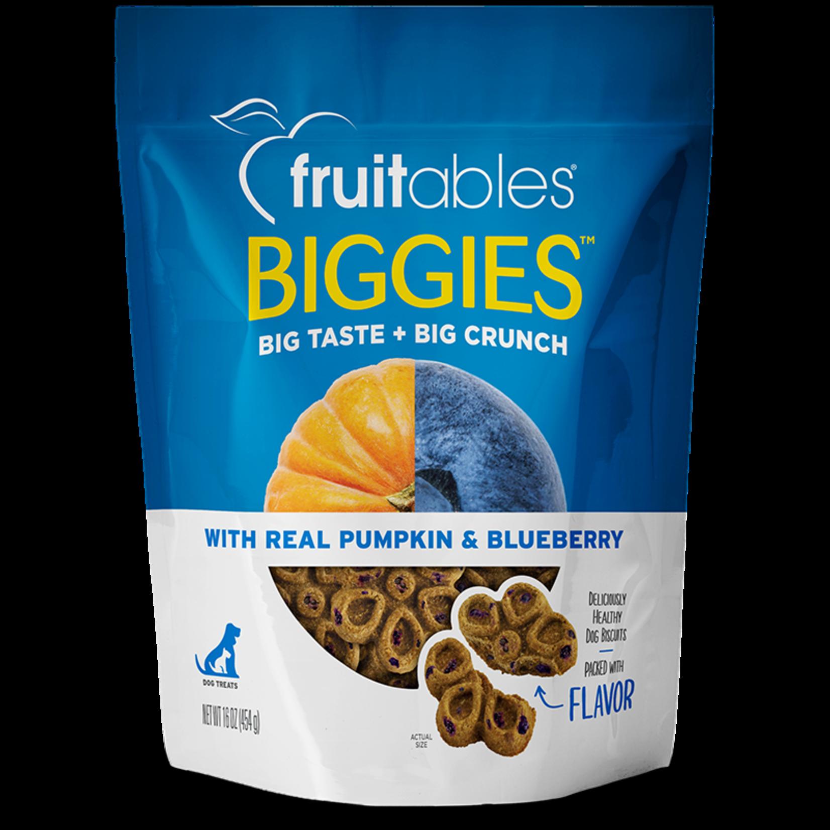 Fruitables Fruitables Biggies Pumpkin & Blueberry Dog Treat 16oz