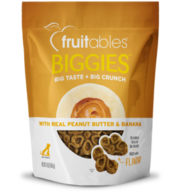 Fruitables Fruitables Biggies PB & Banana Dog Treat 16oz