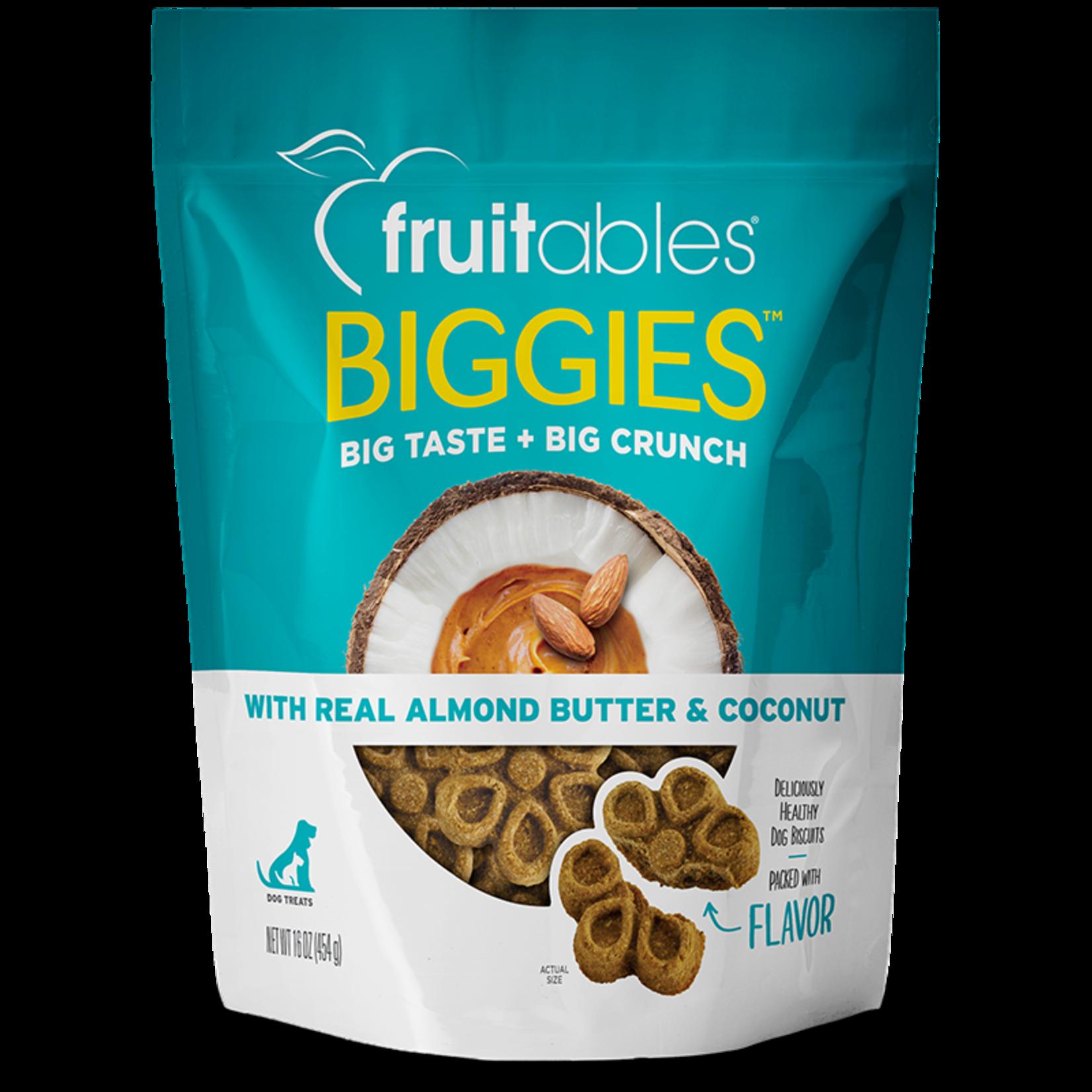 Fruitables Fruitables Biggies Almond Butter & Coconut Dog Treat 16oz