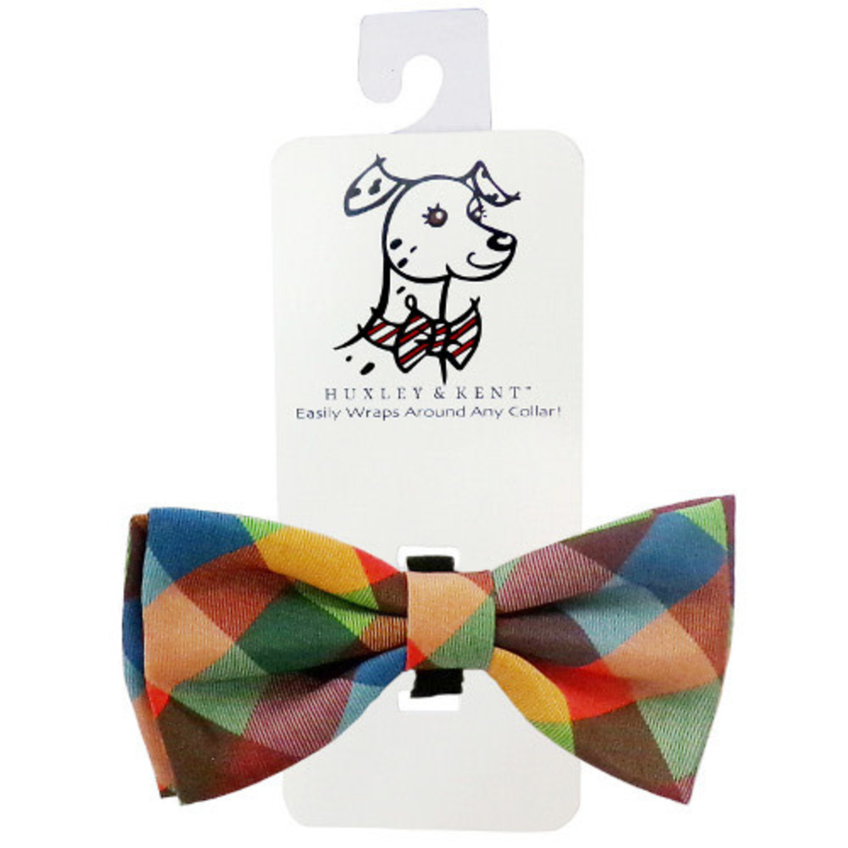 Huxley & Kent Huxley & Kent Fall Check Bow Tie Dog