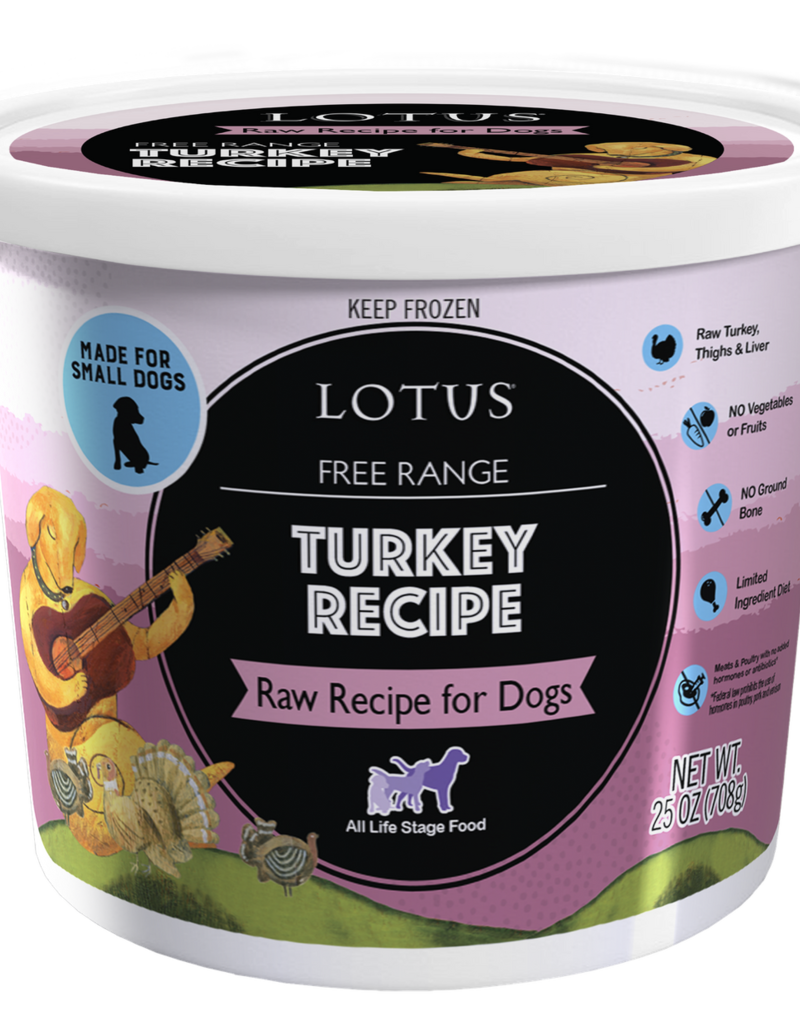 Lotus LOTUS Frozen Raw Turkey Dog 25oz