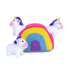 Zippy Paws Zippypaws Rainbow Unicorns Dog Toy