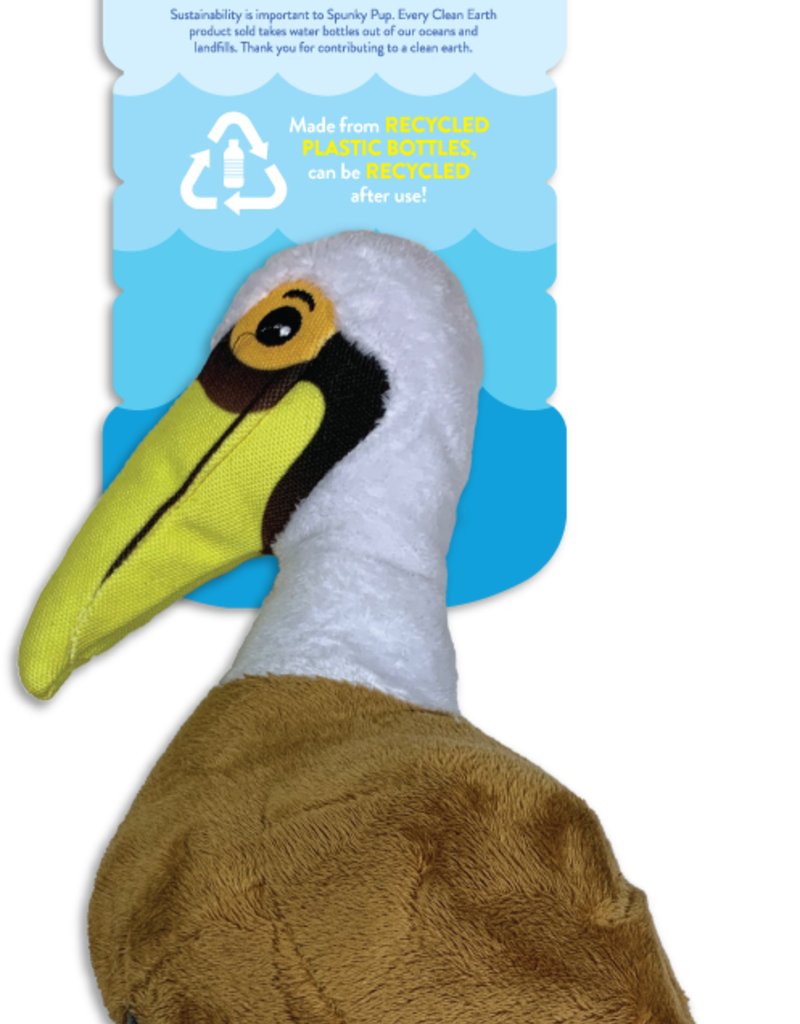 Spunky Pup Spunkypup Clean Earth Pelican Dog Toy Sm