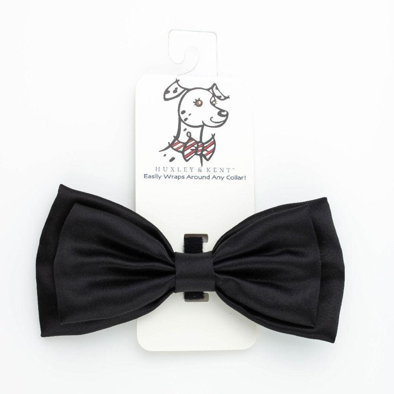 Huxley & Kent Huxley & Kent Black Satin Bow Tie