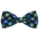 Huxley & Kent Huxley & Kent Check Blue & Green Bow Tie