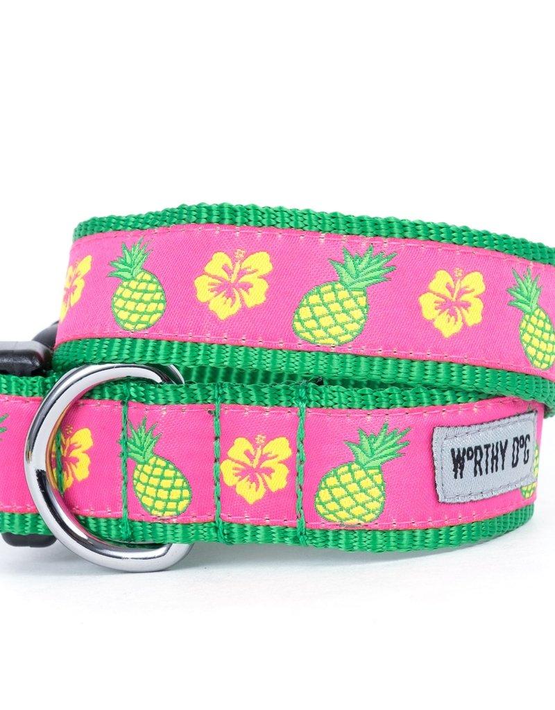 Worthy Dog The Worthy Dog Dog Collar Pineapples
