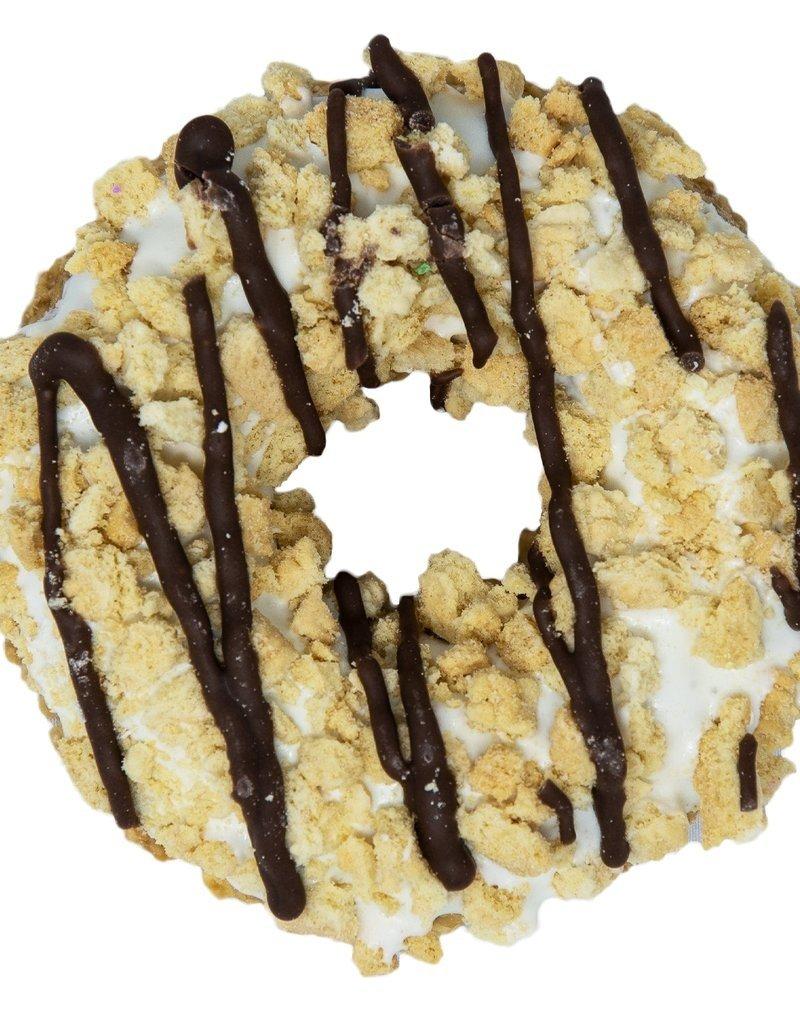 K9 Granola Factory K9 Granola Factory Gourmet Granola Donut Vanilla Fudge Stripe Dog Treat