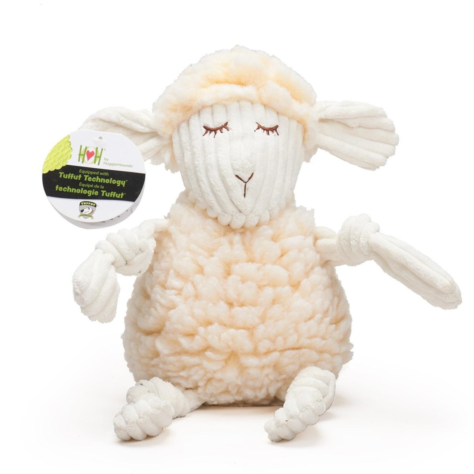 Hugglehounds Hugglehounds Fluffer Knotties Lamb Dog Toy Sm