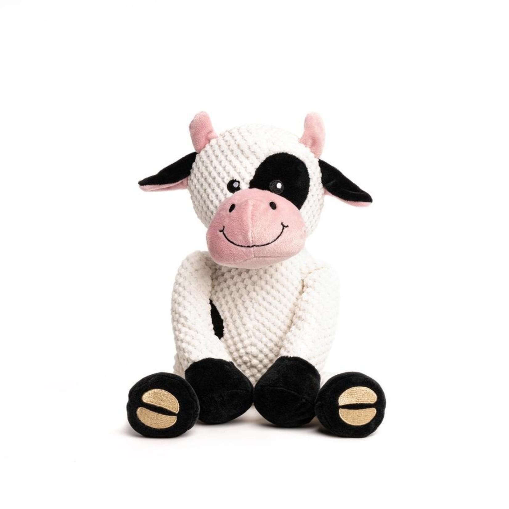Fabdog Fabdog Floppy Cow Dog Toy Sm