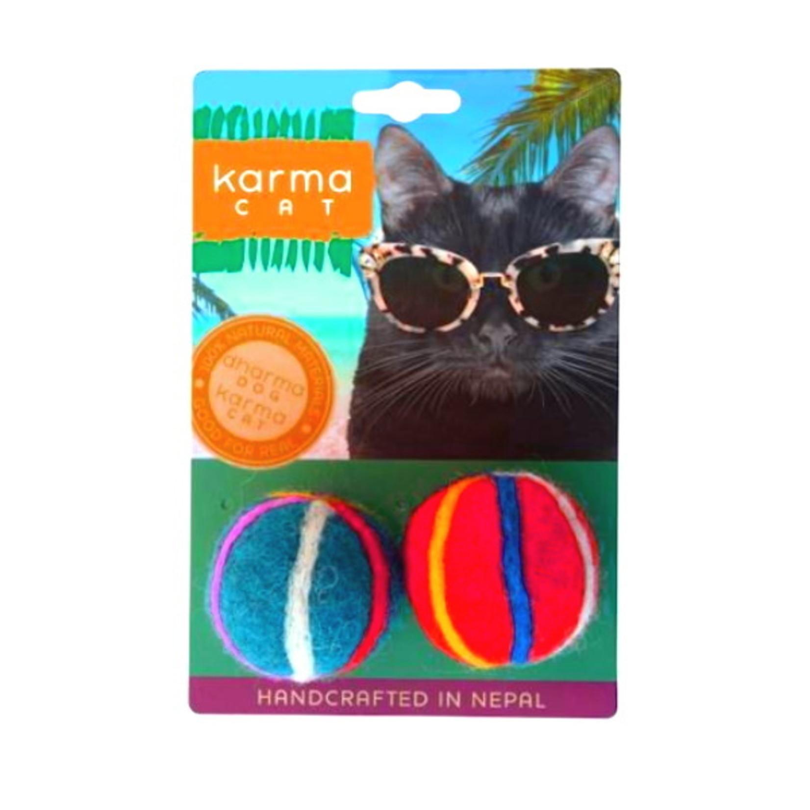 Dharma Dog Dharma Dog Beach Balls Cat Toy 2pk