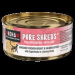 Koha KOHA Pure Shreds Chicken & Salmon Cat Can 2.8 oz