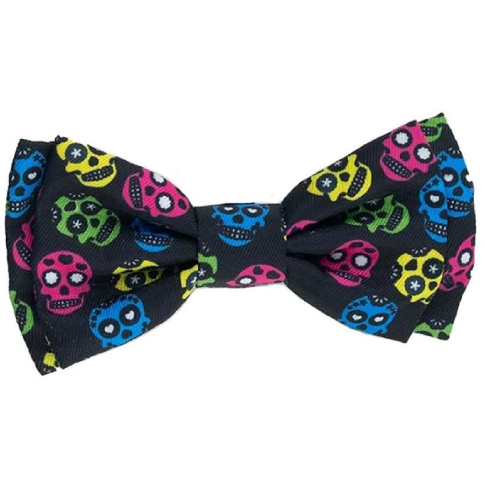 Huxley & Kent H&K Sugar Skull Bow Tie