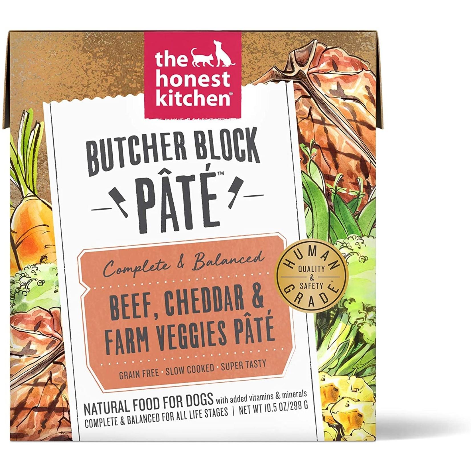 Honest Kitchen THK Butcher Block Pate Beef Cheddar Veggies Dog Can 10.5oz