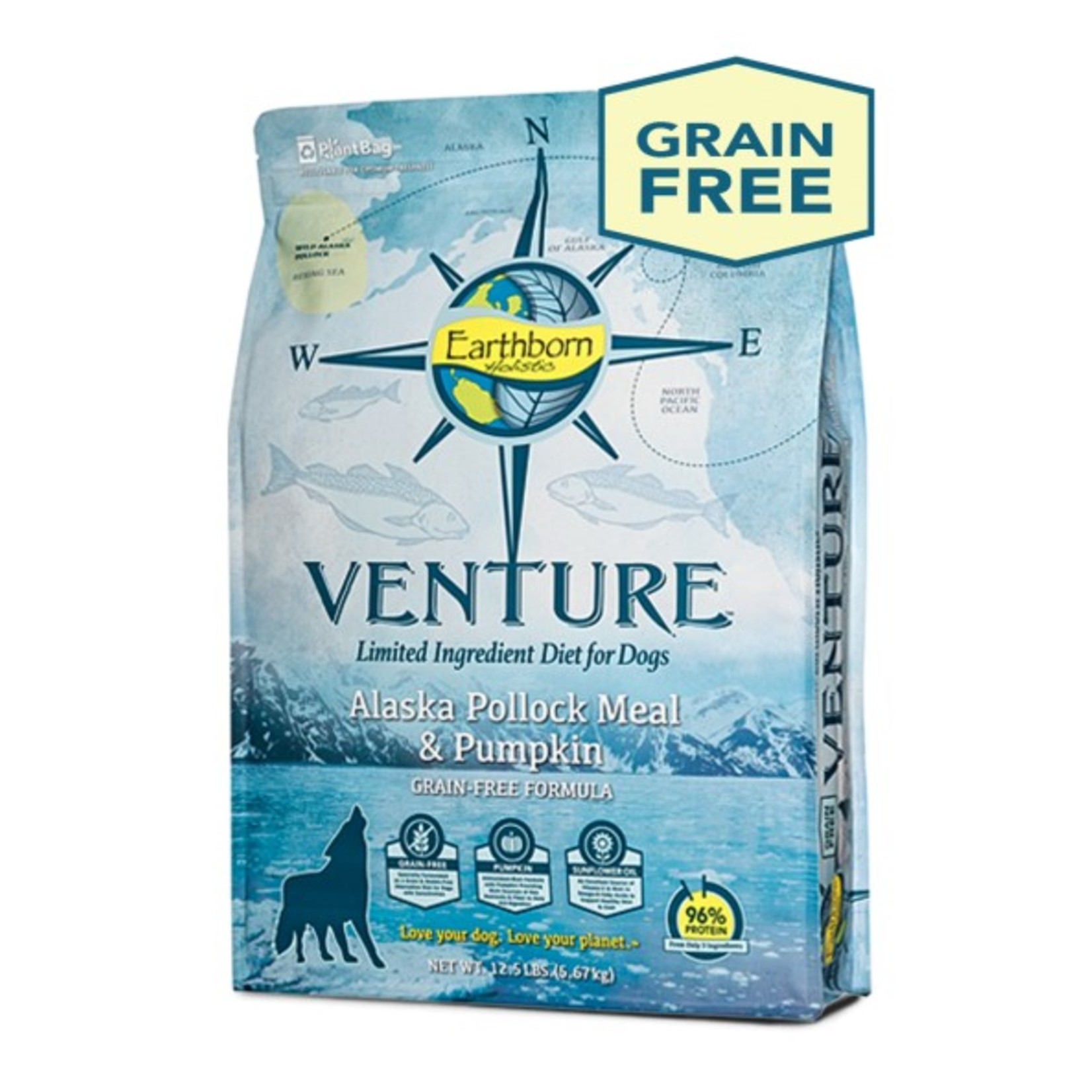 Venture Earthborn Venture GF Pollock Meal and Pumpkin Dog Food