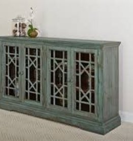 Largo Distressed Blue Sideboard