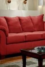 Affordable Furniture Sensation Red Sofa Love