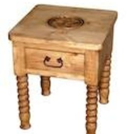 Rustic Heritage Spindle Leg End Table