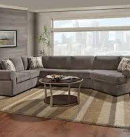 Washington Furniture Dynasty Storm Pewter Sec