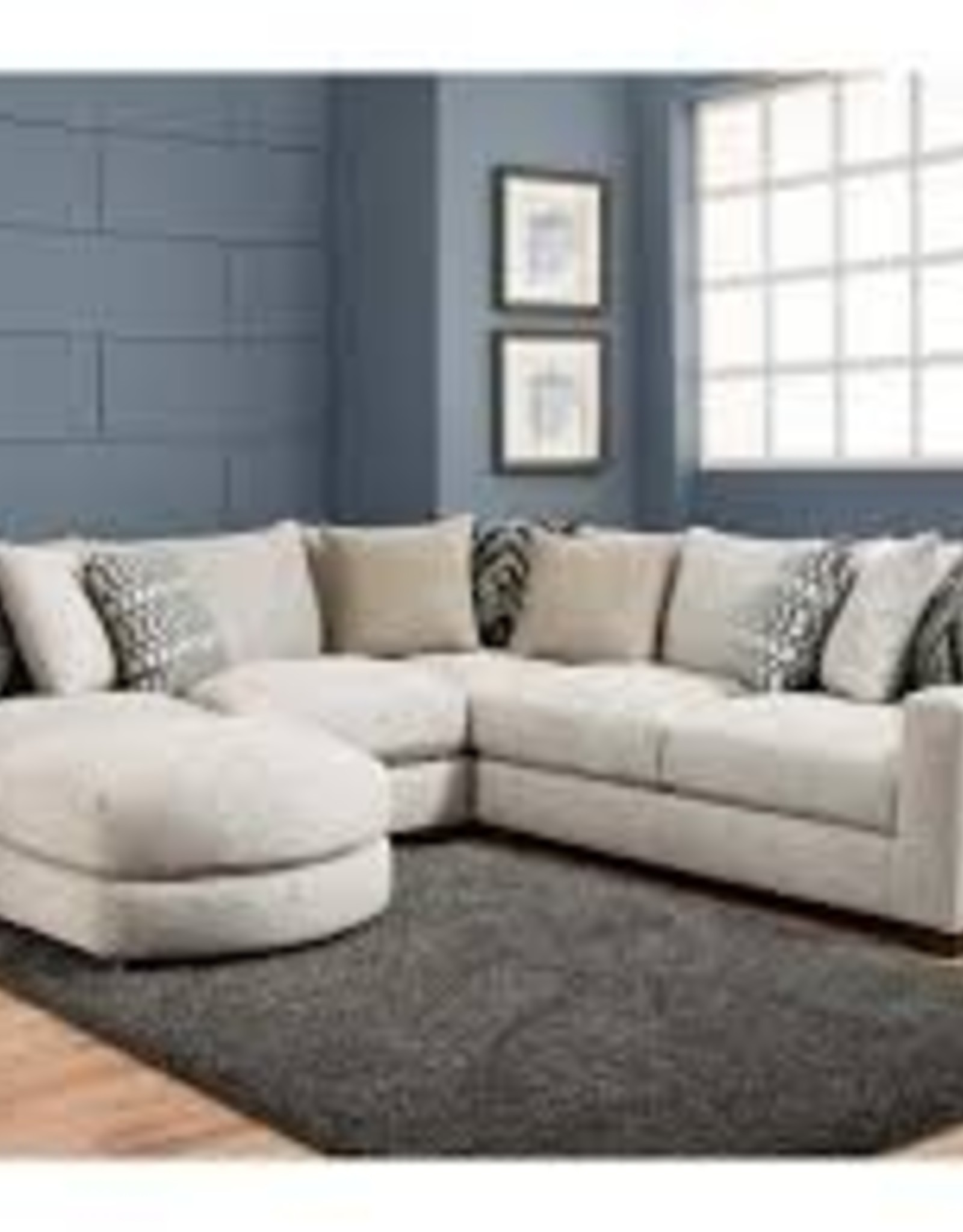 American Furniture Homespun Platinum Sectional