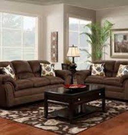 Washington Furniture Flat Suede Chocolate Sofa