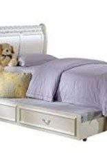 Acme Full White Sleigh Bed