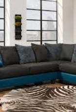 CLS Tampa Teal 2pc Sectional